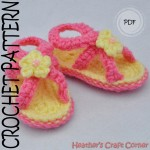 Criss-Cross Baby Sandals Crochet Pattern