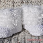 Furry Baby Booties Crochet Pattern