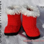 Christmas Santa Baby Booties Crochet Pattern