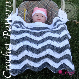 New Pattern! Chevron Car Seat Canopy and Car Seat / Stroller Blanket ...