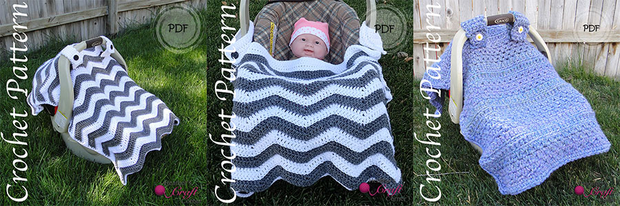 3 New Patterns Chevron Car Seat Canopy And Car Seat Stroller